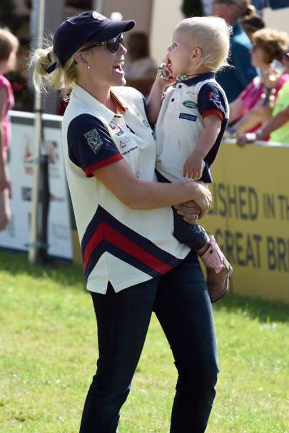 Autumn Phillips and Isla Phillips