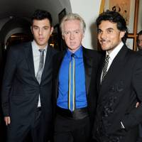 Jhordan Stevenson, Philip Treacy and Jacques Correia