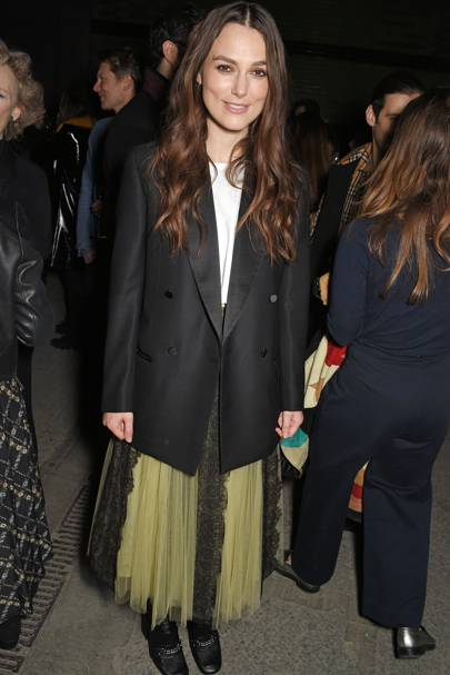 Keira Knightley at Burberry A/W18