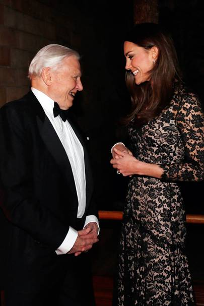Duchess of Cambridge and David Attenborough