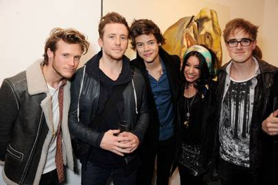 Dougie Poynter, Danny Jones, Harry Styles, Lara Carew-Jones and Tom Fletcher