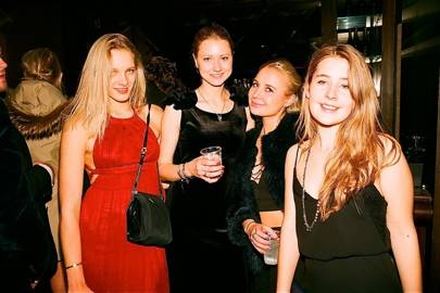 Emma Hallqvist, Louisa Sjogren, Caroline Sviu Smith and Sonia Spencer-Carr