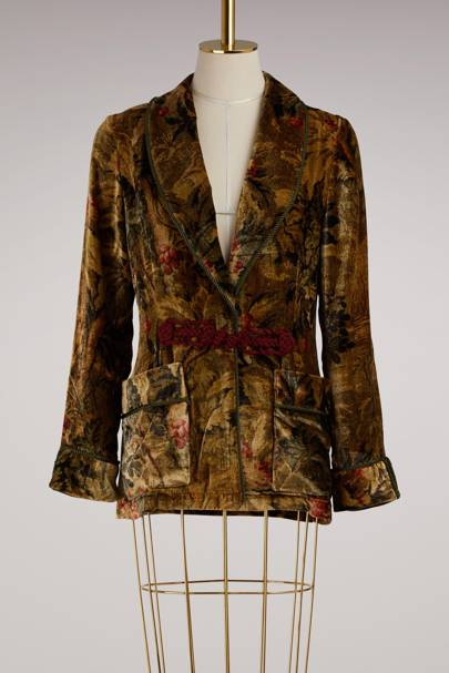 For Restless Sleepers velvet jacket