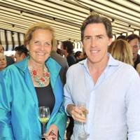Deborah Shawkolar and Rob Brydon