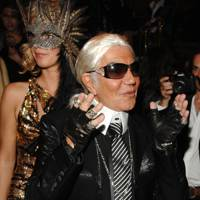 Roberto Cavalli as Karl Lagerfeld, 2007