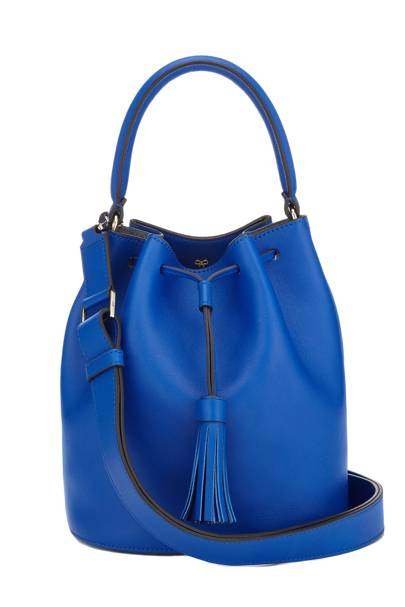Calfskin & suede bag, £795, by Anya Hindmarch