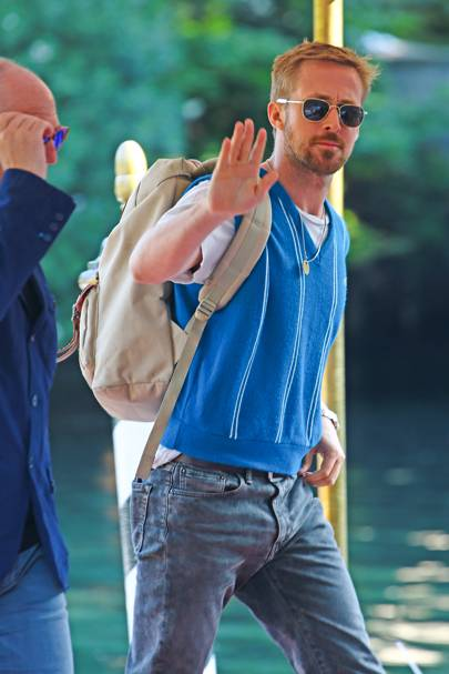 Ryan Gosling arriving at Venice Film Festival