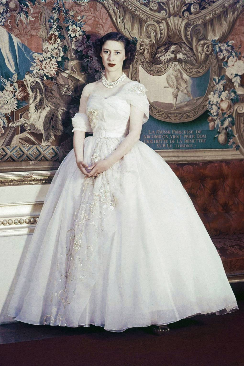 Princess Margaret Wedding Dress Tiaras Family Photos