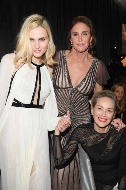 Andreja Pejić, Caitlyn Jenner and Sharon Stone