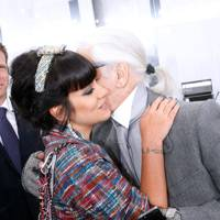 Lily Allen and Karl Lagerfeld