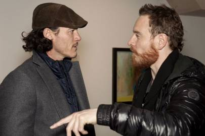 Luke Evans and Michael Fassbender