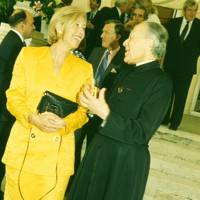 Lady Solti and the Rev Jean-Charles Roux