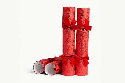 Selfridges Red Damask Glitter crackers
