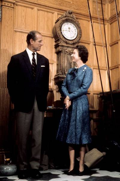 Prince Philip and the Queen at Balmoral Castle, 1976