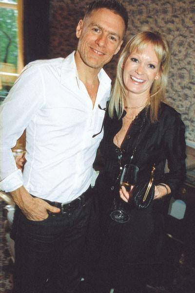 Bryan Adams and Mrs Brent Hoberman