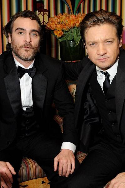 Joaquin Phoenix and Jeremy Renner