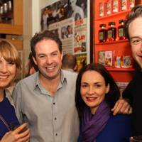 Sarah Estens, Mathew Stokie, Vallerie Stokie and Phil McMahon