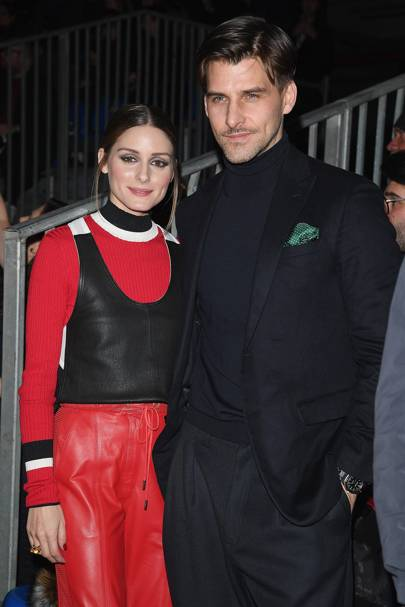 Olivia Palermo and Johannes Huebl at Tommy Hilfiger A/W18