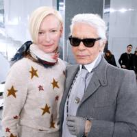 Tilda Swinton and Karl Lagerfeld