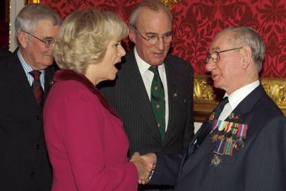 Lt Col Stewart Kirkwood, the Duchess of Cornwall, David Cowley and Jimmy McCall