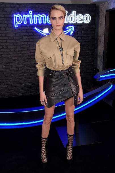 Cara Delevingne at the Amazon Prime Video party.
