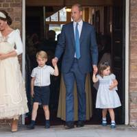 Prince Louis, the Duchess of Cambridge, Prince George, the Duke of Cambridge and Princess Charlotte