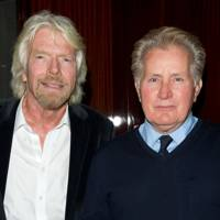Sir Richard Branson and Martin Sheen