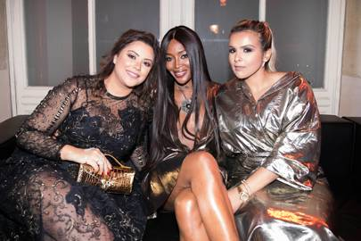 Carol Sabbagha, Naomi Campbell and Sheikha Aisha Al-Thani
