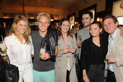 India Whalley, Jamie Laing, Sophia Hattrell, Freddie Richardson, Madeleine Gogarty and Max Fox-Andrews