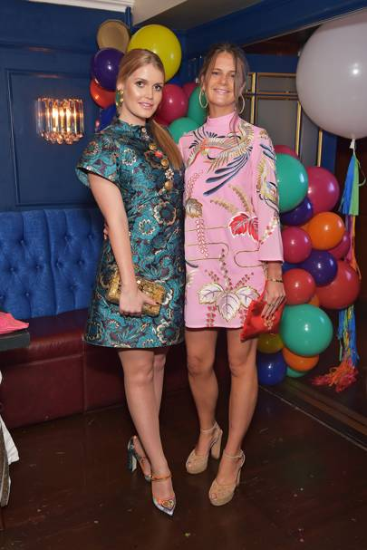 Lady Kitty Spencer and Lady Jemima Herbert
