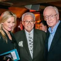 Kate Moss, Sir David Tang and Sir Michael Caine