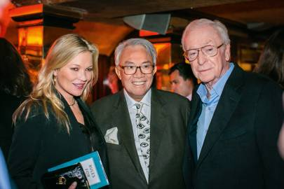 Kate Moss, Sir David Tang and Sir Michael Caine
