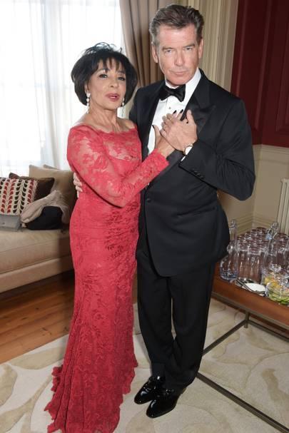 Dame Shirley Bassey and Pierce Brosnan