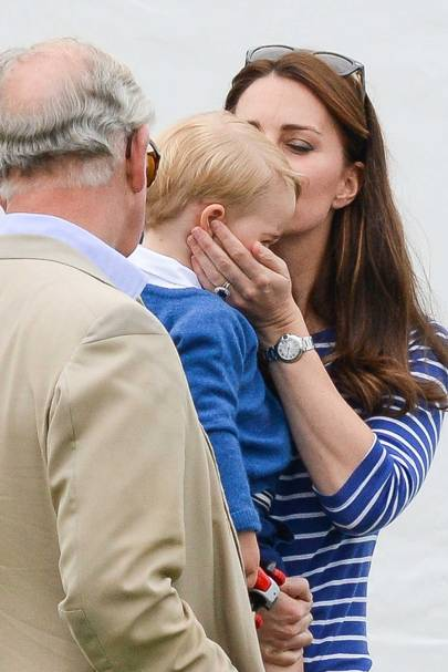 The Prince of Wales, The Duchess of Cambridge and Prince George