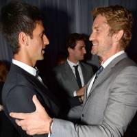 Novak Djokovic and Gerard Butler