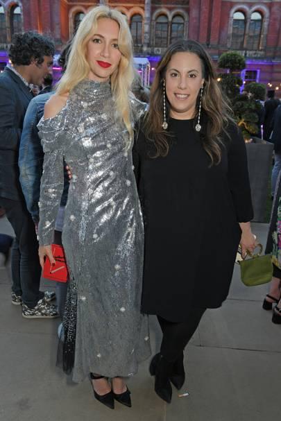 Sabine Getty and Mary Katrantzou