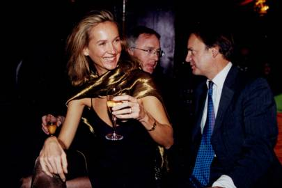 Mrs Michael Treichi, Simon Hussey and Hugo Swire