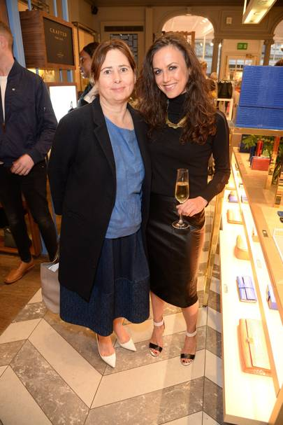 Alexandra Shulman and Nicole Bahbout