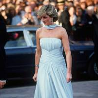 Princess Diana wearing Catherine Walker in 1987