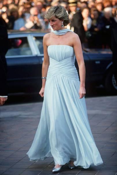 Princess Diana wearing Catherine Walker in 1987
