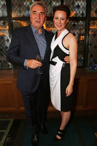 Jim Carter and Raquel Cassidy