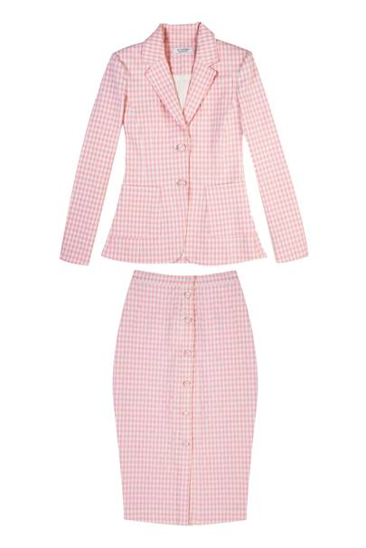 Cotton blazer, £1,150; cotton skirt, £480, both by Altuzarra
