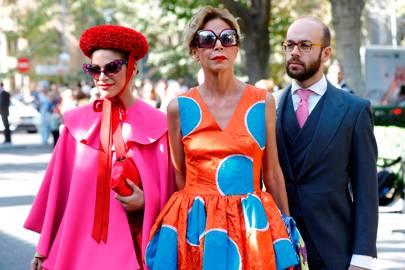 Cosima Ramirez, Agatha Ruiz de la Prada and Tristan Ramirez