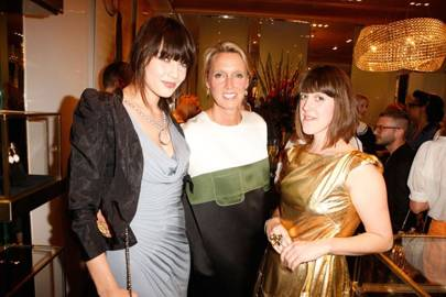 Daisy Lowe, Annoushka Ducas and Rosie Emerson