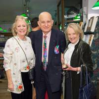 Lady Vanessa Hannam, Naim Attallah and Maggie Hanbury