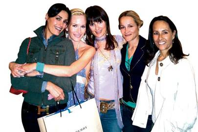 Yasmin Le Bon, The Hon Mrs Lucas White, Tracey Younger, Tara Agace and Sarah Manley