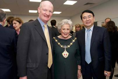 Lord Willetts, Elizabeth Rutherford and Wang Yongli