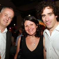 Dominic Cooke, Suzy Lygo and Stephen Mangan