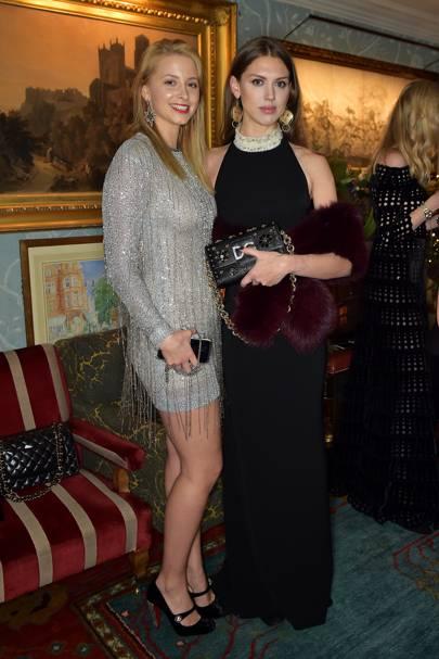 Sabine Getty and Sabrina Percy