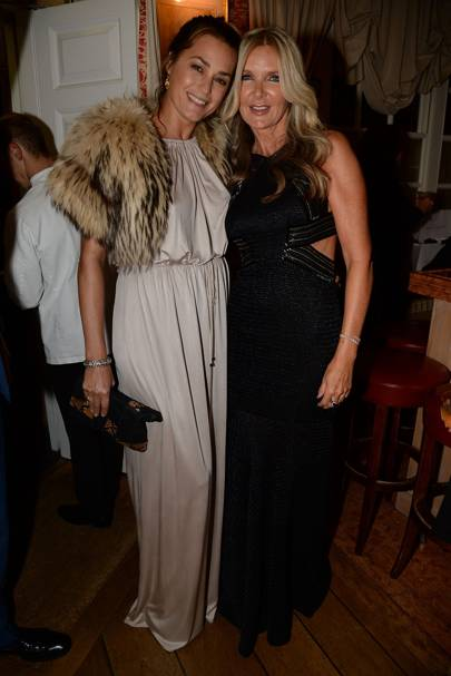 Yasmin Le Bon and Amanda Wakeley
